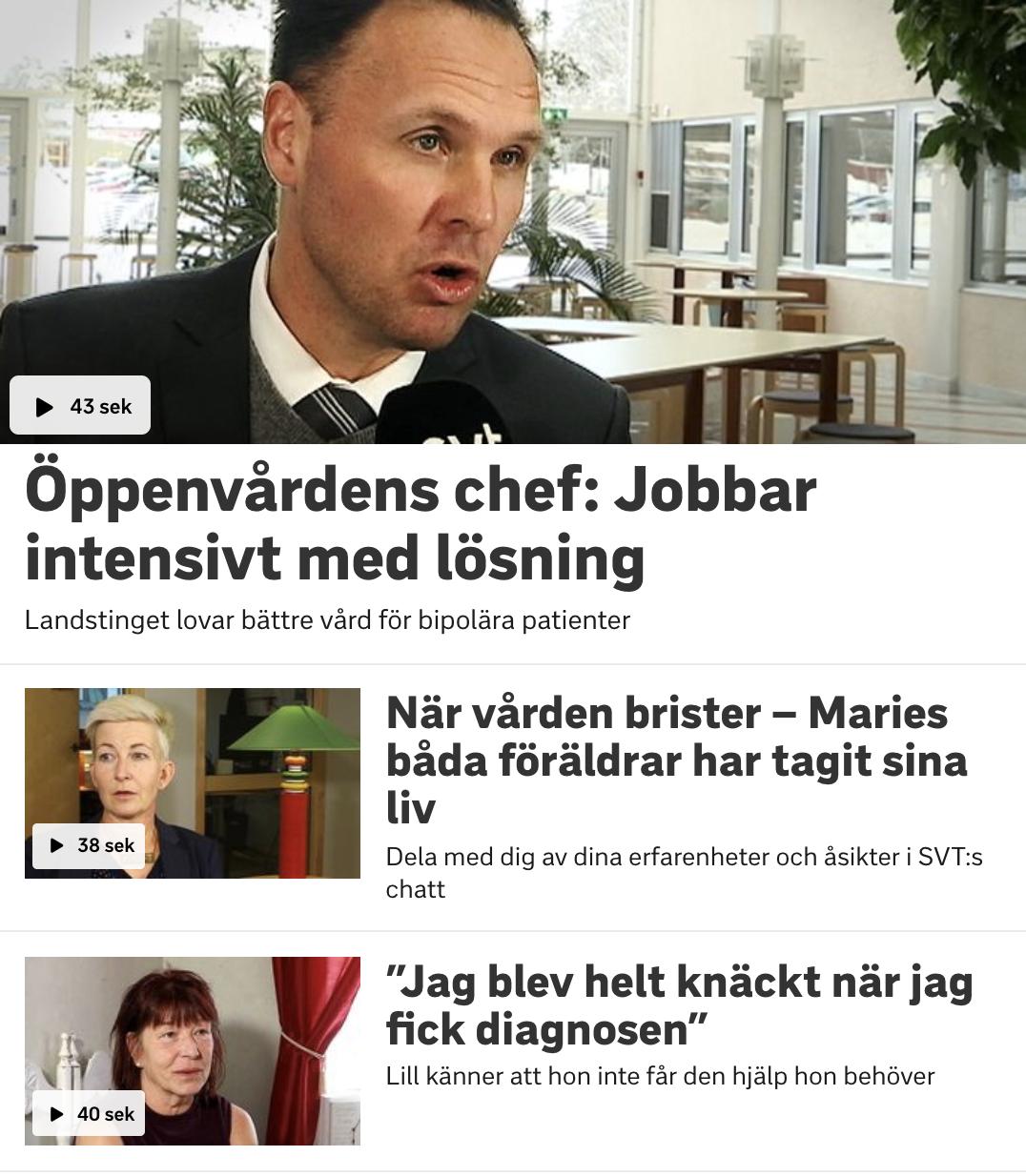 SVT Värmland uppmärksammar bipolär sjukdom