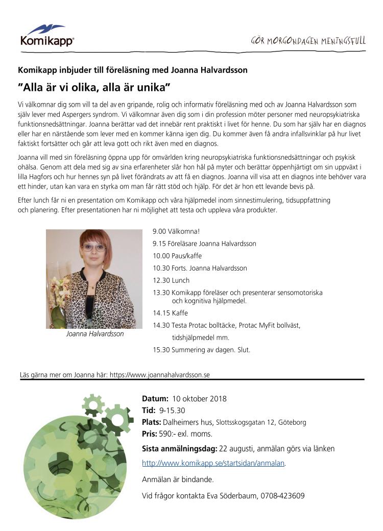 Föreläsning i Göteborg 10/10