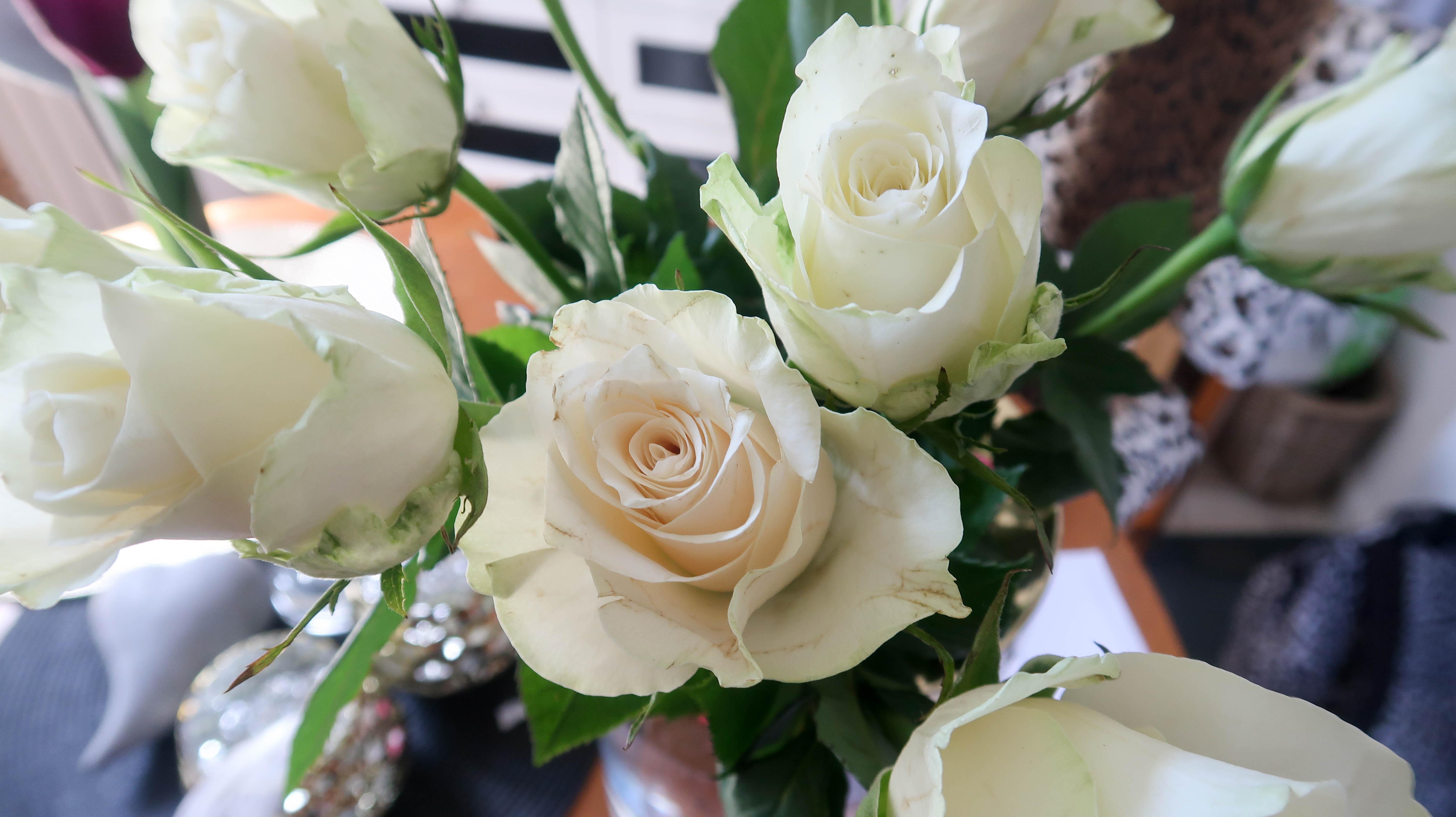 Jag fick lagledaren blommor 😂