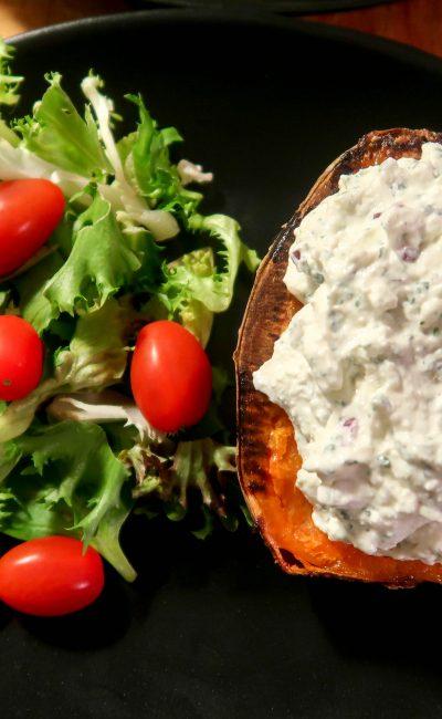Recept: Bakad sötpotatis med fetaoströra 9SP