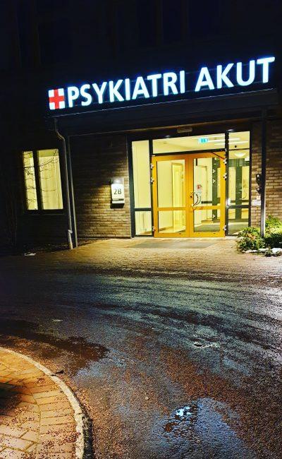 Inlagd för psykiatrisk slutenvård