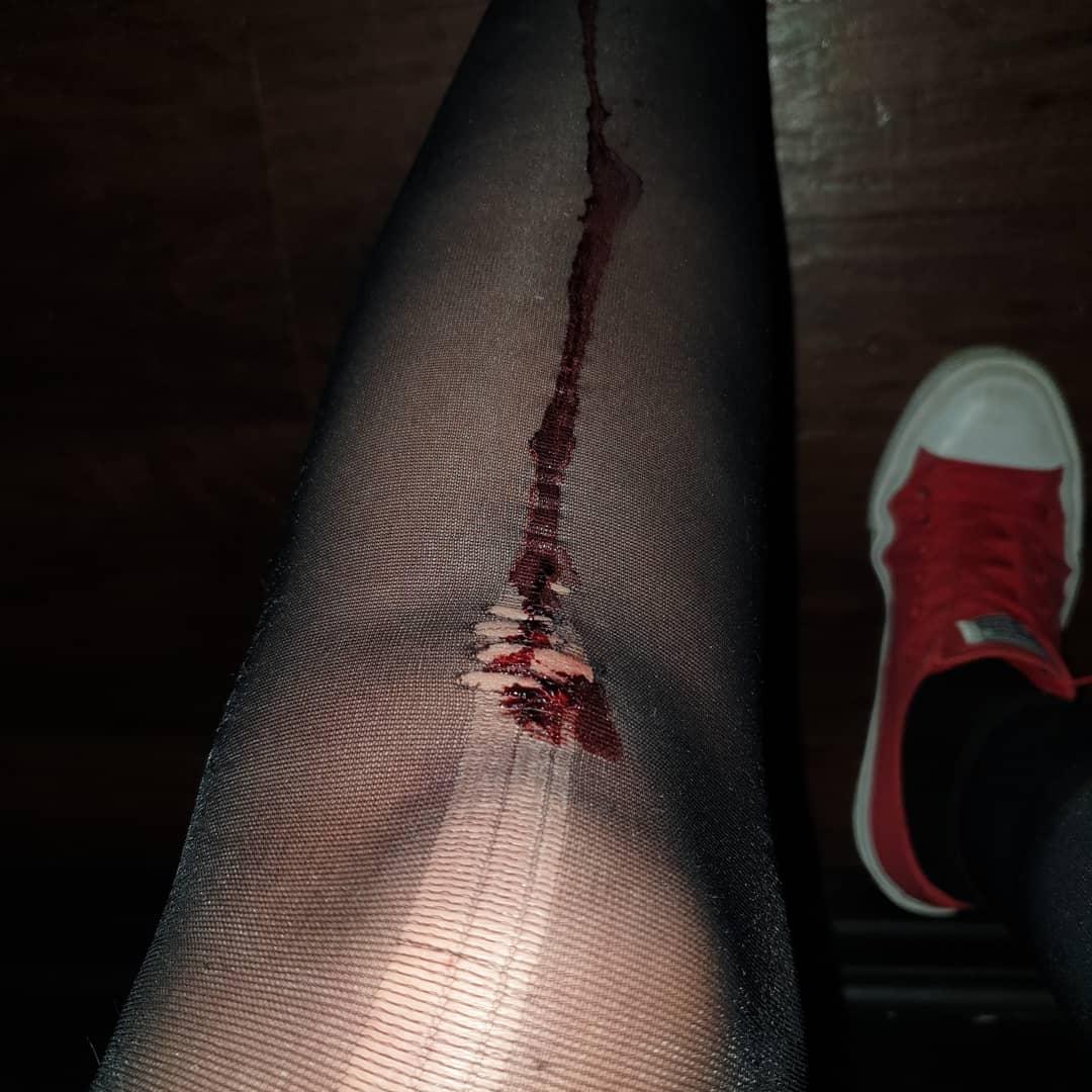blodigt