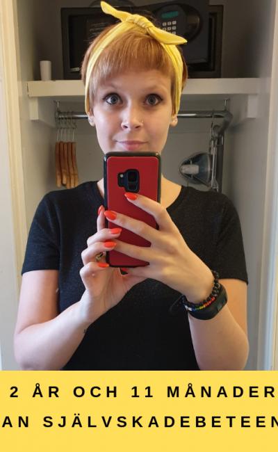 2 år och 11 månader utan självskadebeteende