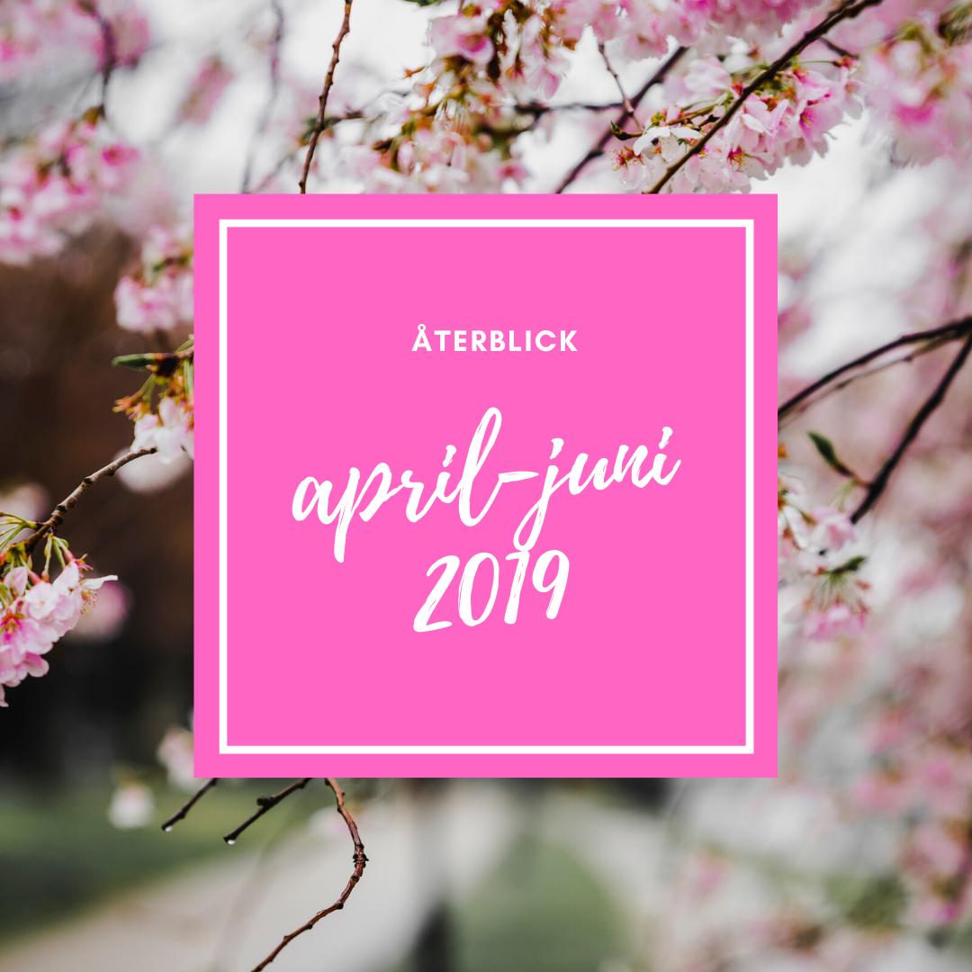 Återblick april-juni 2019