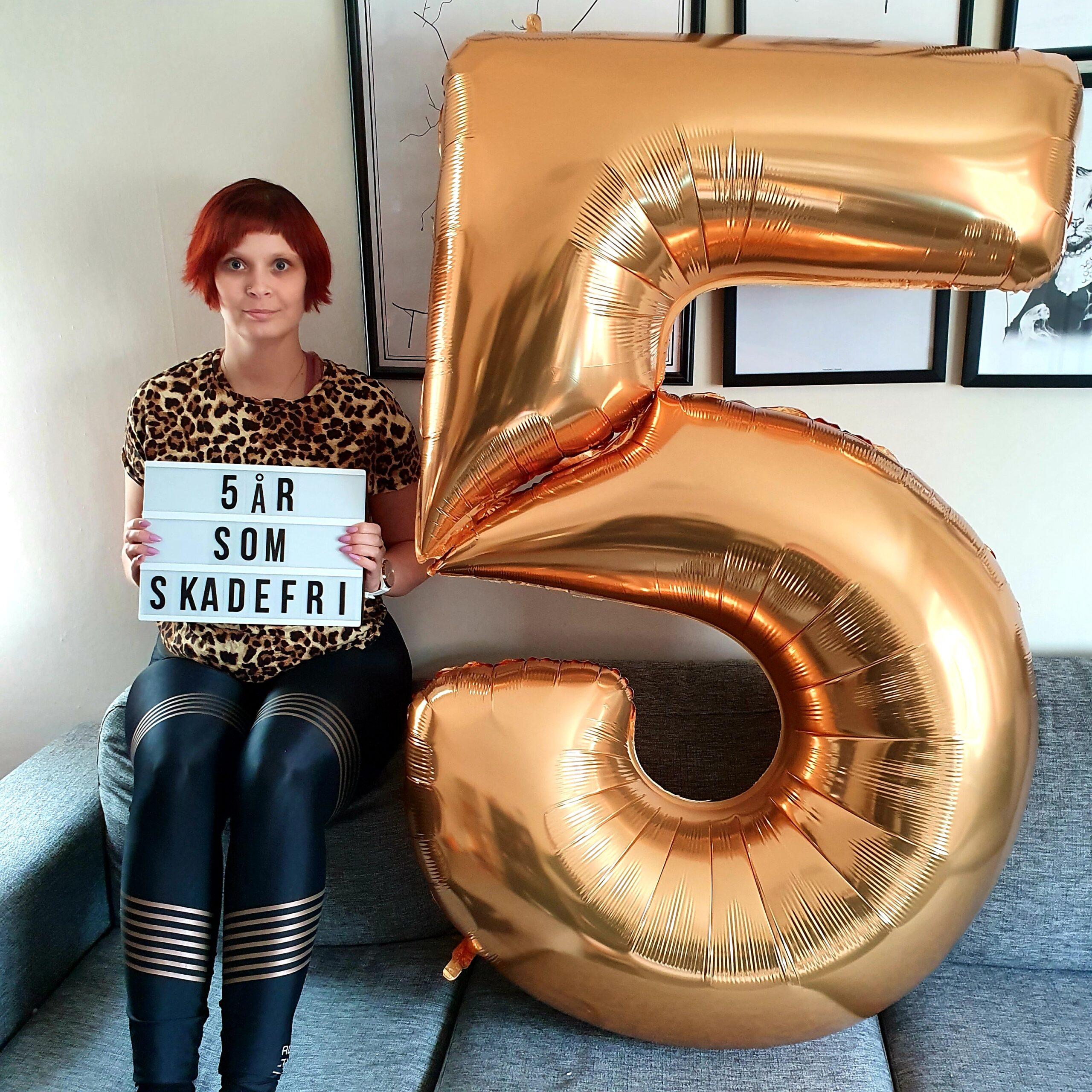 5 år utan självskadebeteende